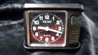 Vintage Seiko Reisewecker Japan - Im Case - Batterie Uhrwerk Bild