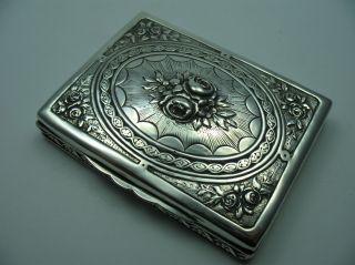Reich Verzierte Schöne Alte Tabatiere Schnupftabakdose Um 1900 Aus 830 Silber Bild