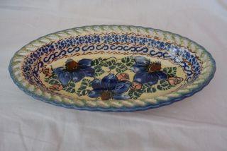 Bunzlau Keramik - Ovale Schale Durchbruch - Unikat - Boleslawiec Bild