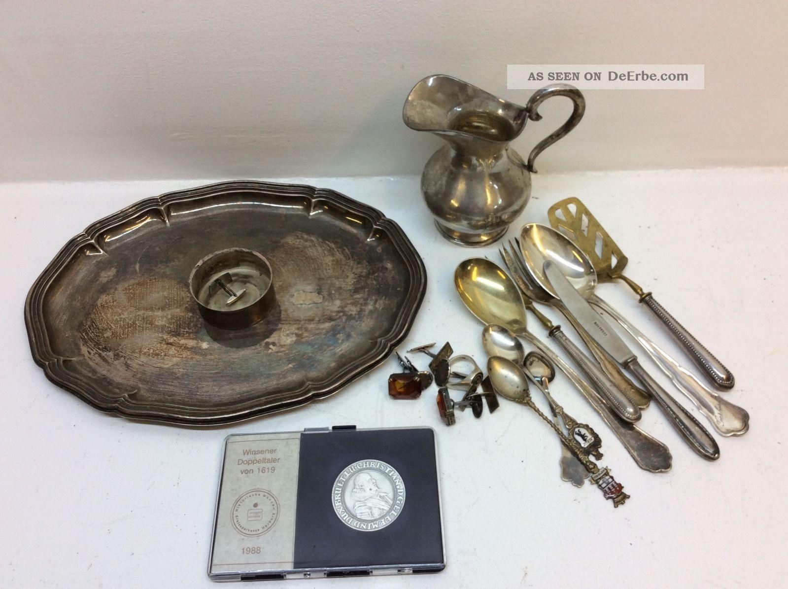 Silber Schrott Konvolut 800er 925er 999er Feinsilber Münze Objekte nach 1945 Bild