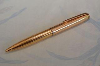 Alter Goldring Kugelschreiber Goldplattiert 60/70er Jahre Bild