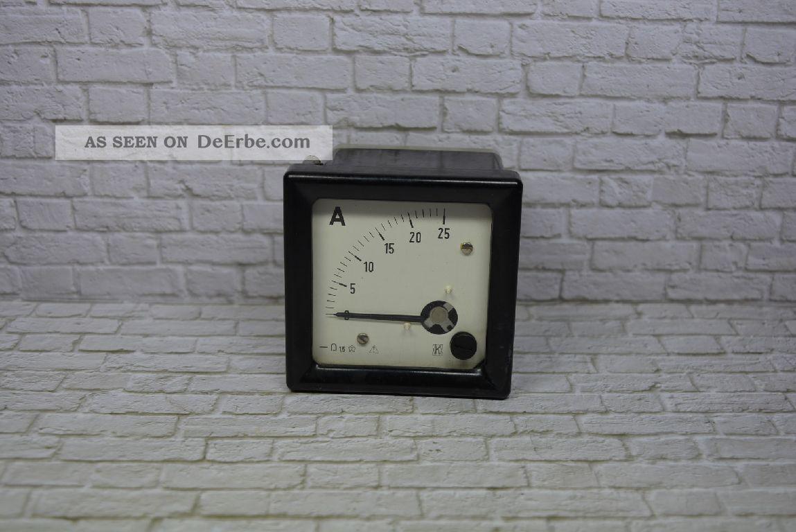 K Leipzig Ddr Amperemeter Tgl 16530 8/72 0 - 25a Dc; K23 101 Wissenschaftliche Instrumente Bild