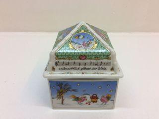Hutschenreuther Porzellan Schatulle Weihnachten 1998 Leise Rieselt Der Schnee Bild