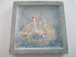 Historische Relieffliese Albrechtsburg Meissen Teichert Kachel 1915 - 20 Stil O&s Bild