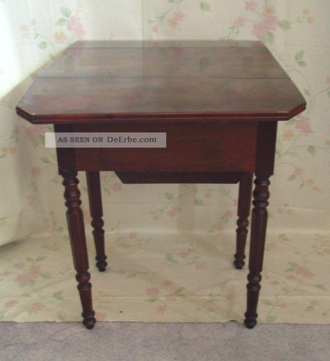 antik pembroke tisch klapptisch wurzelholz louis philippe frankreich shabby chic. Black Bedroom Furniture Sets. Home Design Ideas