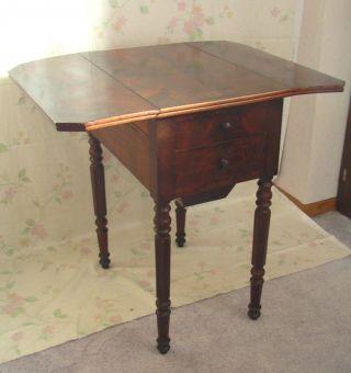 Antik Pembroke Tisch Klapptisch Wurzelholz Louis - Philippe Frankreich Shabby Chic Bild