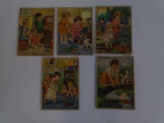 5 Antike Seltene Rechen Puzzle Spiele Für Kinder Legespiel Lernspiel Bild