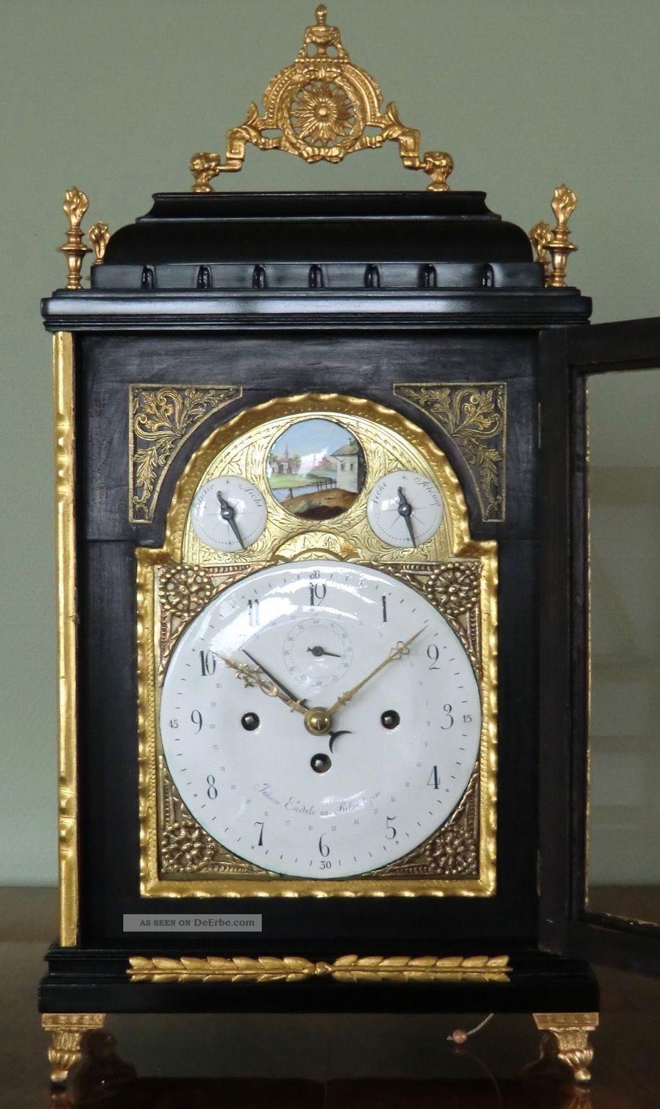 Museale Barocke Stockuhr Um 1780 Antike Originale vor 1950 Bild