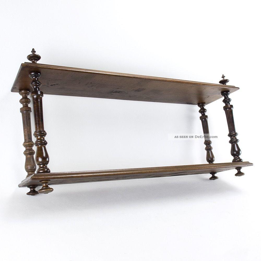 altes holz regal wandregal nussbaum gr nderzeit jugendstil. Black Bedroom Furniture Sets. Home Design Ideas
