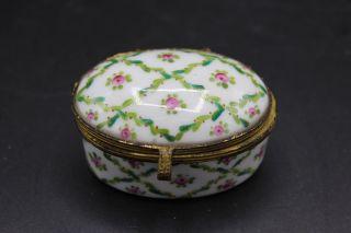 Antike Handbemalte Porzellan? Deckeldose Handbemalt Vergoldet Unbekannte Marke Bild