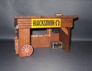 Western - Fort - Haus Hufschmied ' Blacksmith ' Von Oehme&söhne,  Erzgebirge,  Ddr 50 - Er Bild