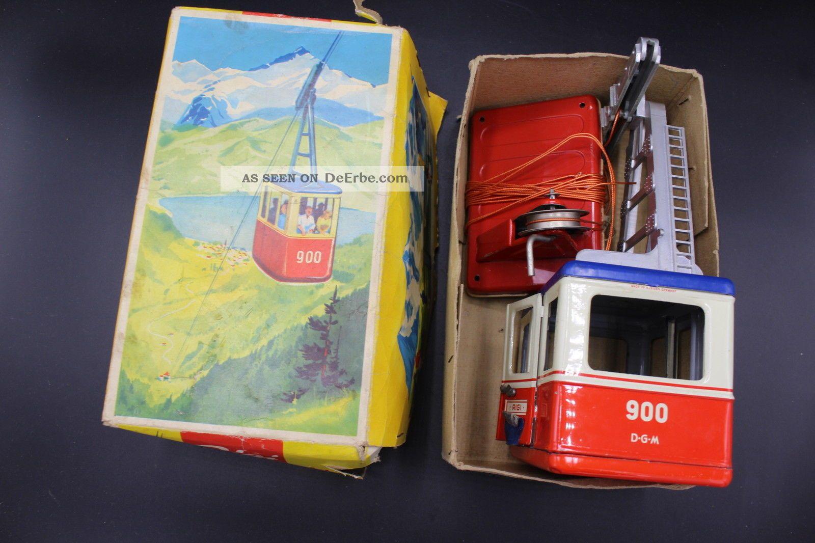 Orig.  Rigi Seilbahn Mit Kurbel & Karton Für Eisenbahn Blechspielzeug - Nr 900 Original, gefertigt 1945-1970 Bild
