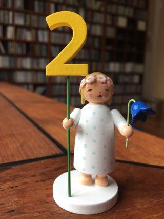 Wendt & Kühn | Mädchen Mit Zahlensatz | Geburtstagsengel Bild