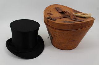 Antiker Zylinder Mit Passender Lederschachtel 1910 Jugendstil Heilbronn Bild