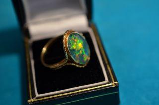 Schöner Opal Triplette Damenring Gold 750 Bild