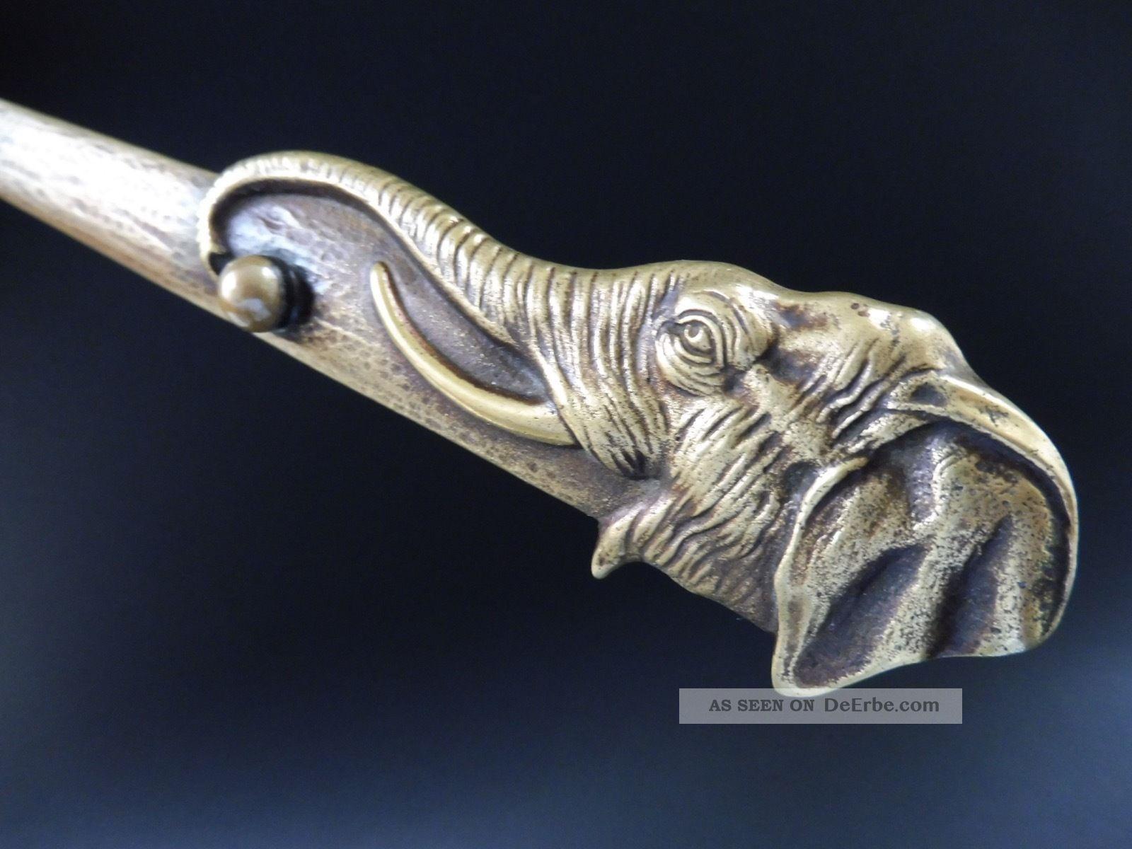 Wiener Bronze Jugendstil Elefant BriefÖffner Letter Opener Elephant Art Nouveau 1890-1919, Jugendstil Bild