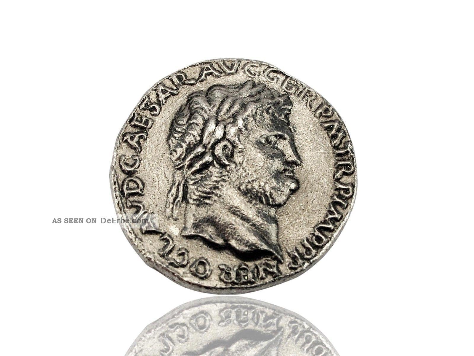 Antike Römische Münze Kaiser Nero - Forum Traiani - Nachbildung Antike Bild