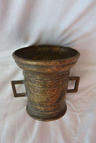 Grabvase Blumenvase Bronze Antik 2 Henkel 2000g 15cm Bild