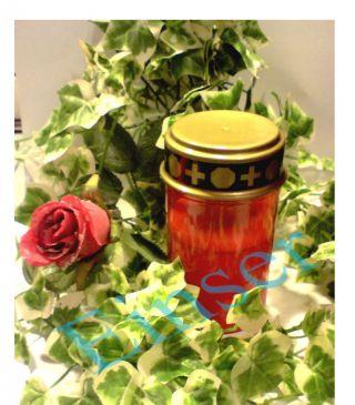 3xled Grablicht Grabkerze Grab Leucht Rot Licht - Flackern Altarkerze Kunststoff Bild