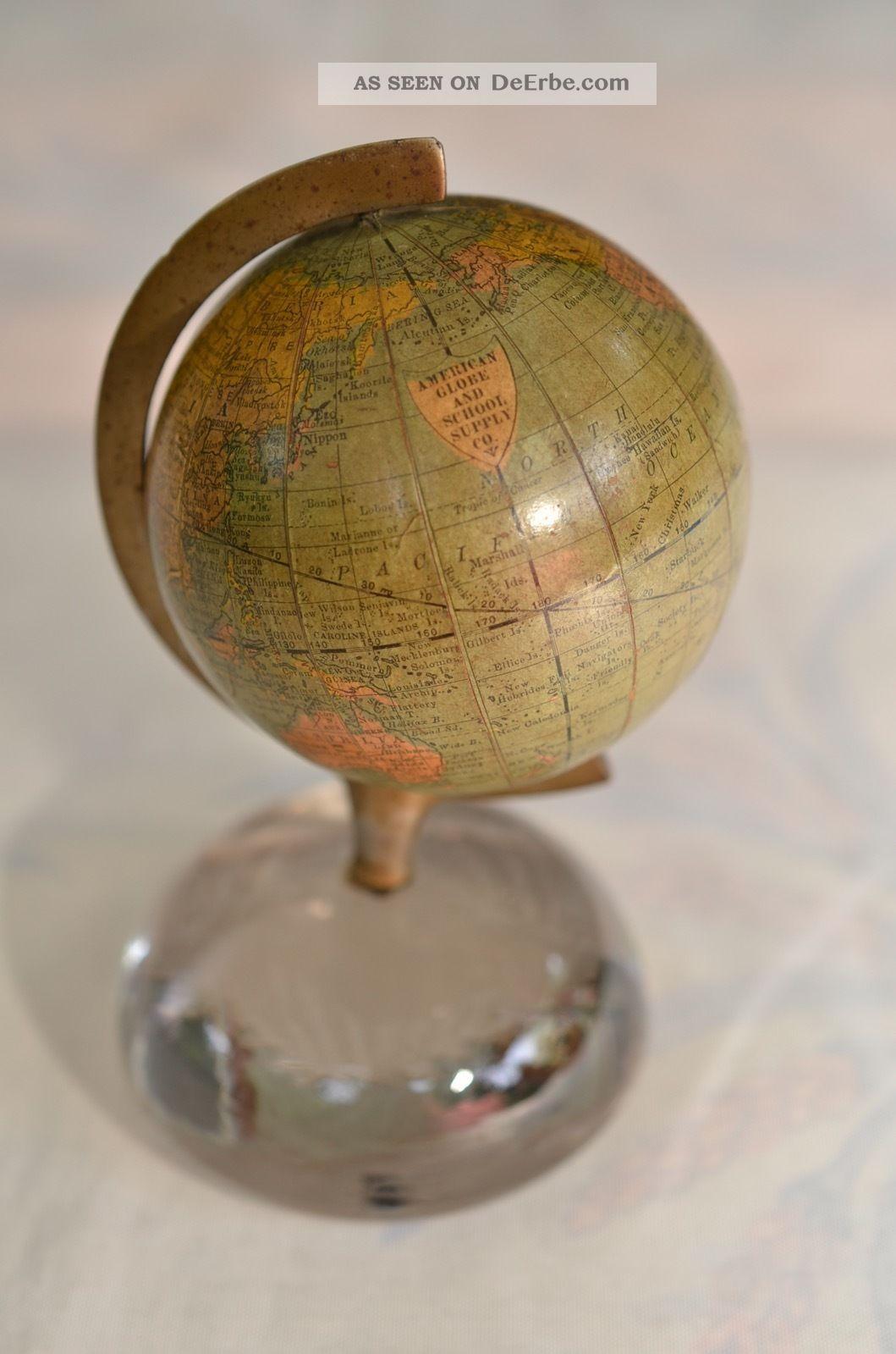 Sammlerstück Antiker Rand,  Mcnally&company American Globe And School Globus 1891 Wissenschaftliche Instrumente Bild