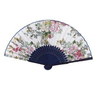 Bambus - Rahmen Handgemacht Blumenmuster Faltreifen Handfaecher A2l5 Bild