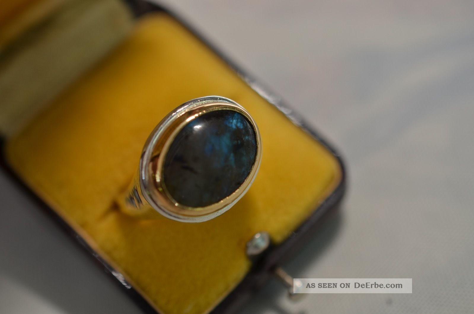 Schöner Alter Opal Damenring Silber 925/gold 750 Ringe Bild