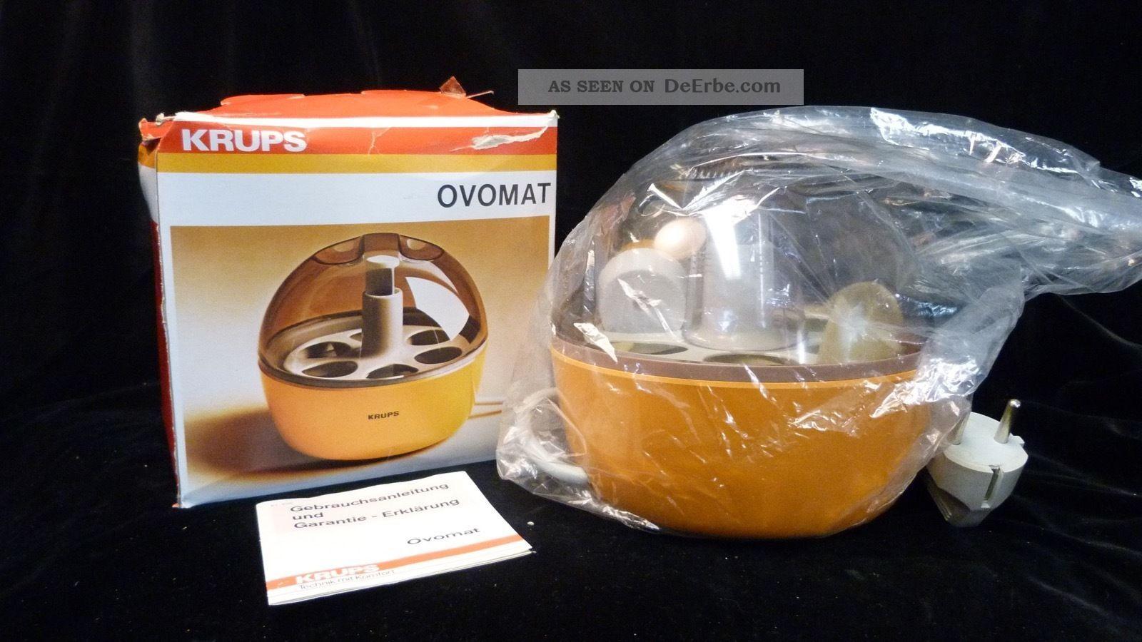Krups Eierkocher Ovomat 238 - Orange - 70 Er Jahre - Vintage - - Für 6 Eier 1970-1979 Bild