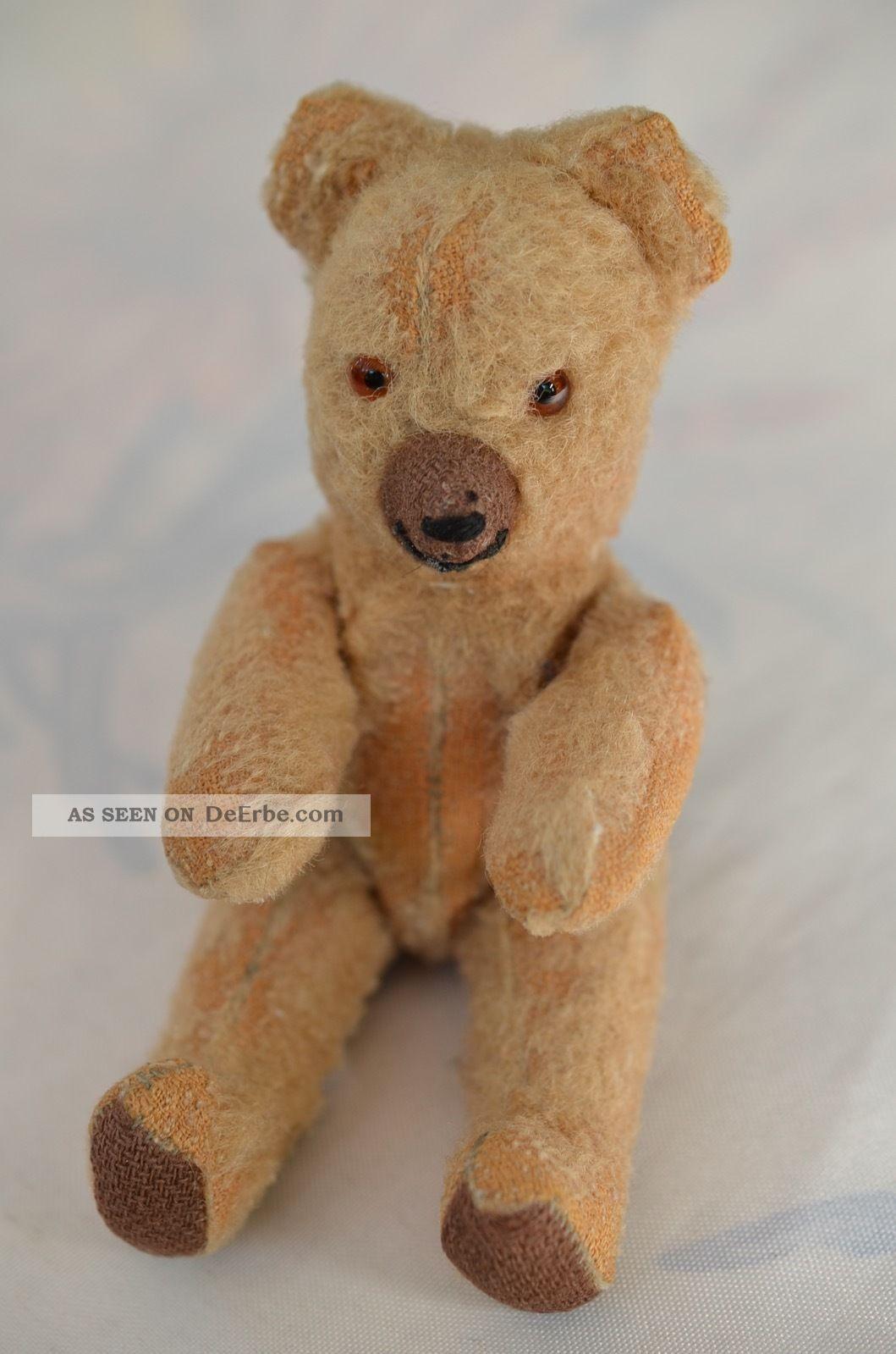 Alter Antiker Teddy Mit Scheibengelenken Vorkrieg 30er Jahre Stofftiere & Teddybären Bild