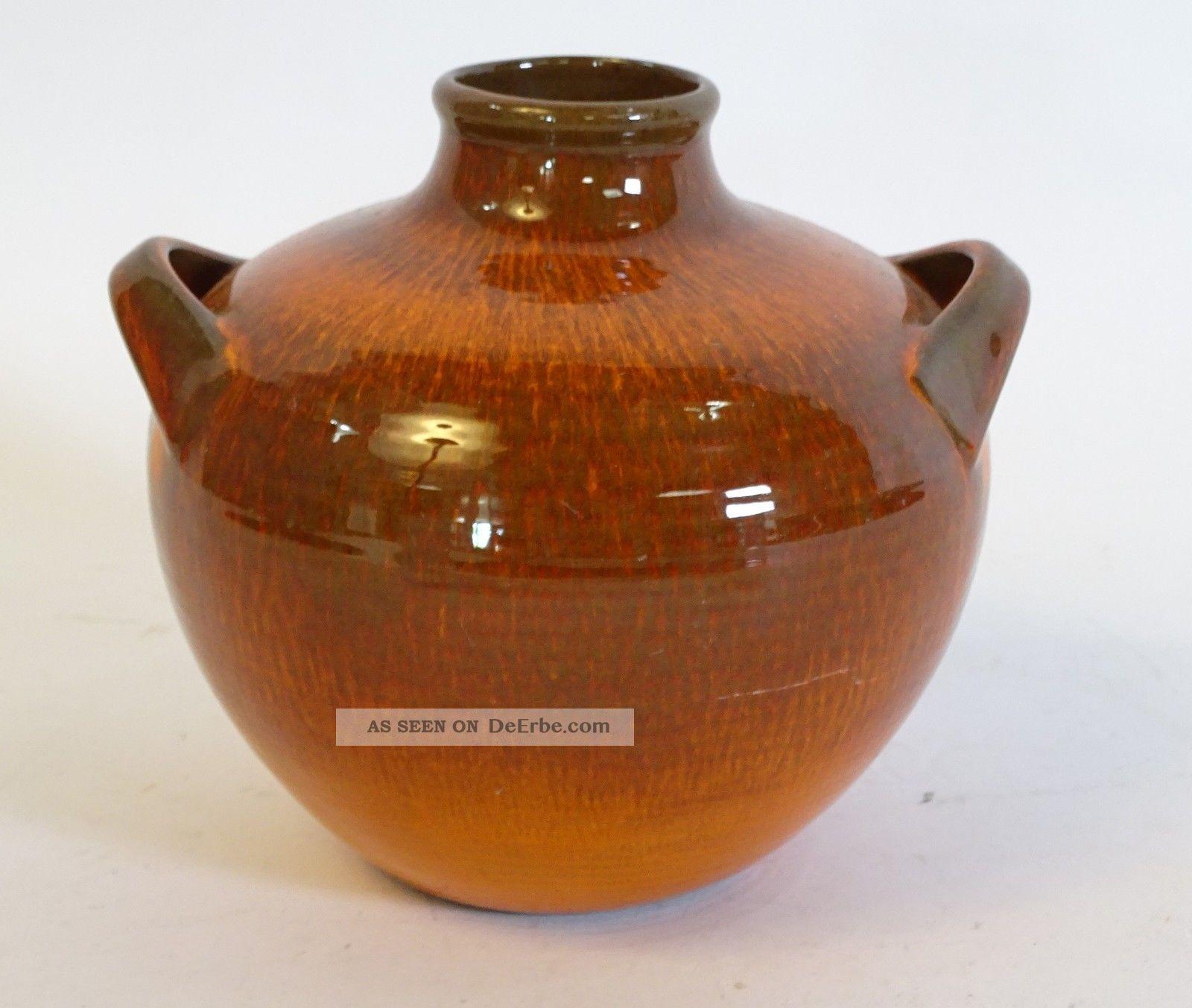 70er Jahre Panton Ära Herrliche Laufglasur Keramik Vase Topf Top Design Objekt 1970-1979 Bild