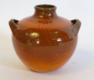 70er Jahre Panton Ära Herrliche Laufglasur Keramik Vase Topf Top Design Objekt Bild