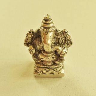 Ganesha Figur,  Silber 800er,  Jugendstil,  Elefant Bild