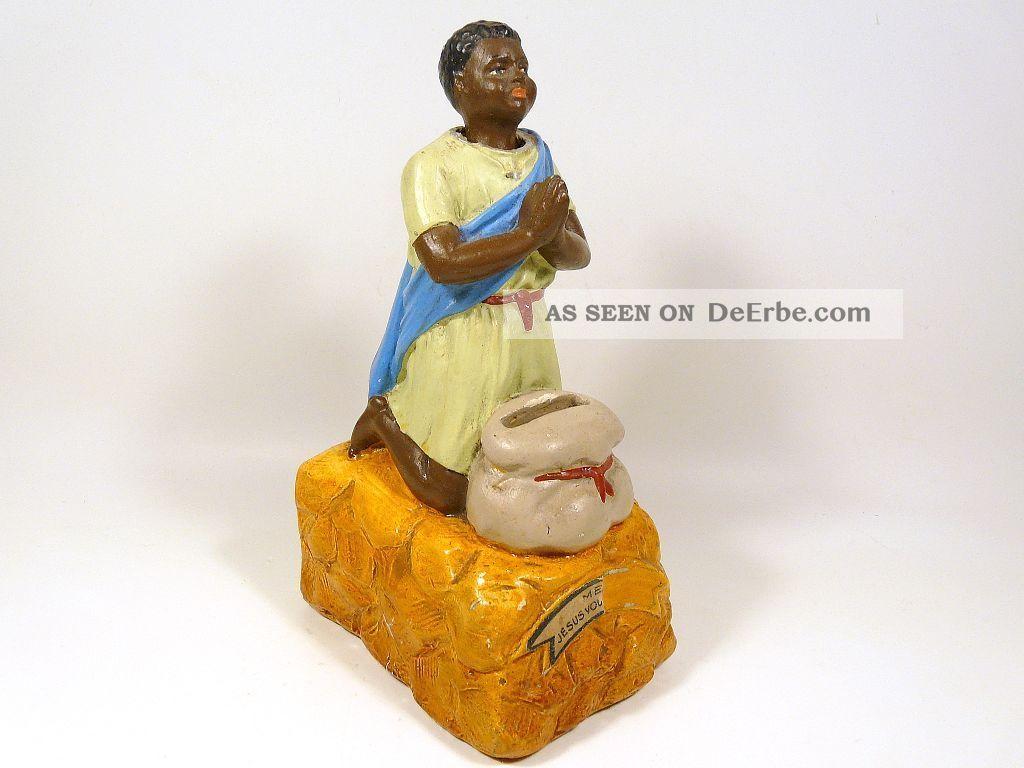Spielzeug Spardose Sparbüchse Opferstock Nickneger Afrika Mission Kollekte Kirchliches Gerät & Inventar Bild