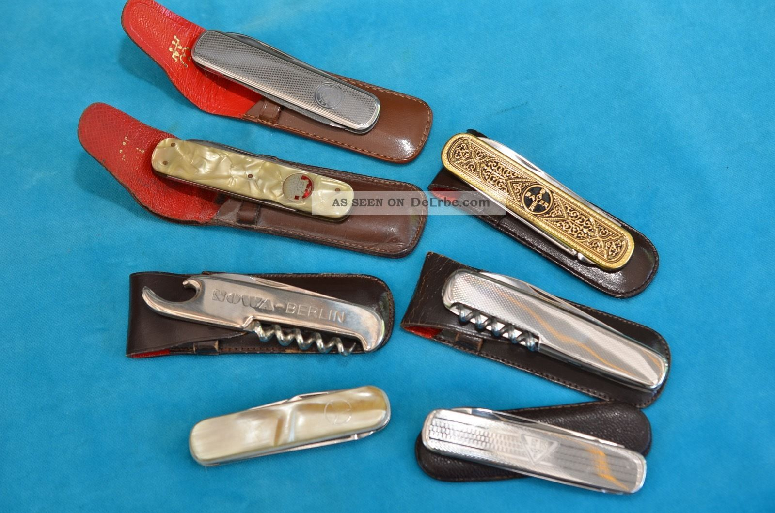 Sammlung Alter 7 Stück Taschenmesser Jagd & Fischen Bild