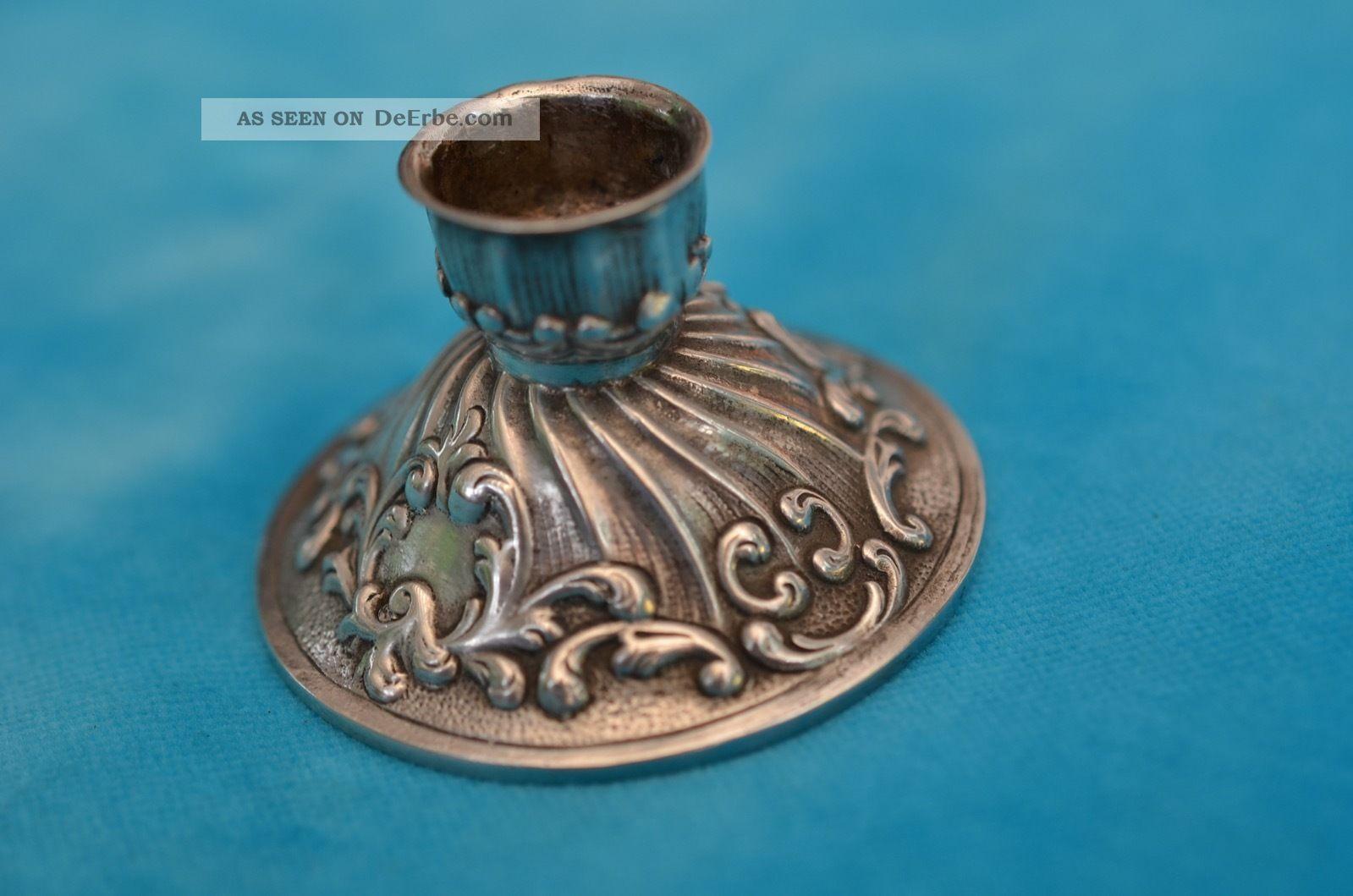 Alter Kerzenleuchter Silber 800 Um 1900 - 1920 Objekte vor 1945 Bild