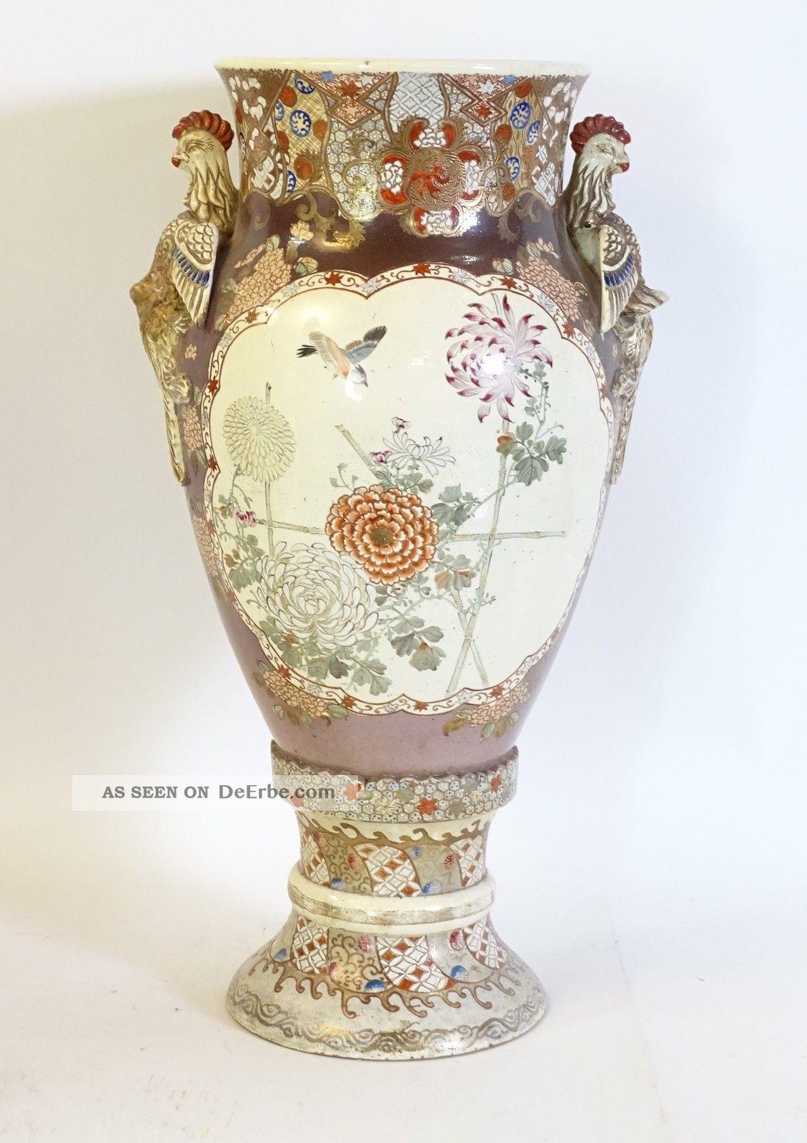Top Rarität Riesige Japan Japanische Vase Keramik Satsuma / Meji 1868 - 1912 Asiatika: Japan Bild