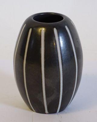 Van Daalen Studio Design Mid Century Schwarz Weiße Keramik Vase Bild