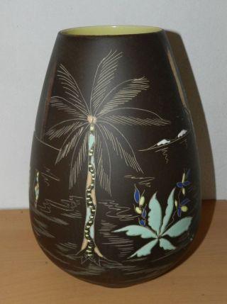 Alte Vase Keramik Tonvase Krug Handgefertigt,  Handbemalt Bild