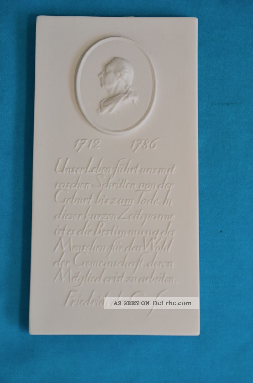 Kpm - Wandbild Relief Friedrich Der Große 1.  Wahl Nach Marke & Herkunft Bild