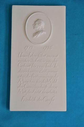 Kpm - Wandbild Relief Friedrich Der Große 1.  Wahl Bild