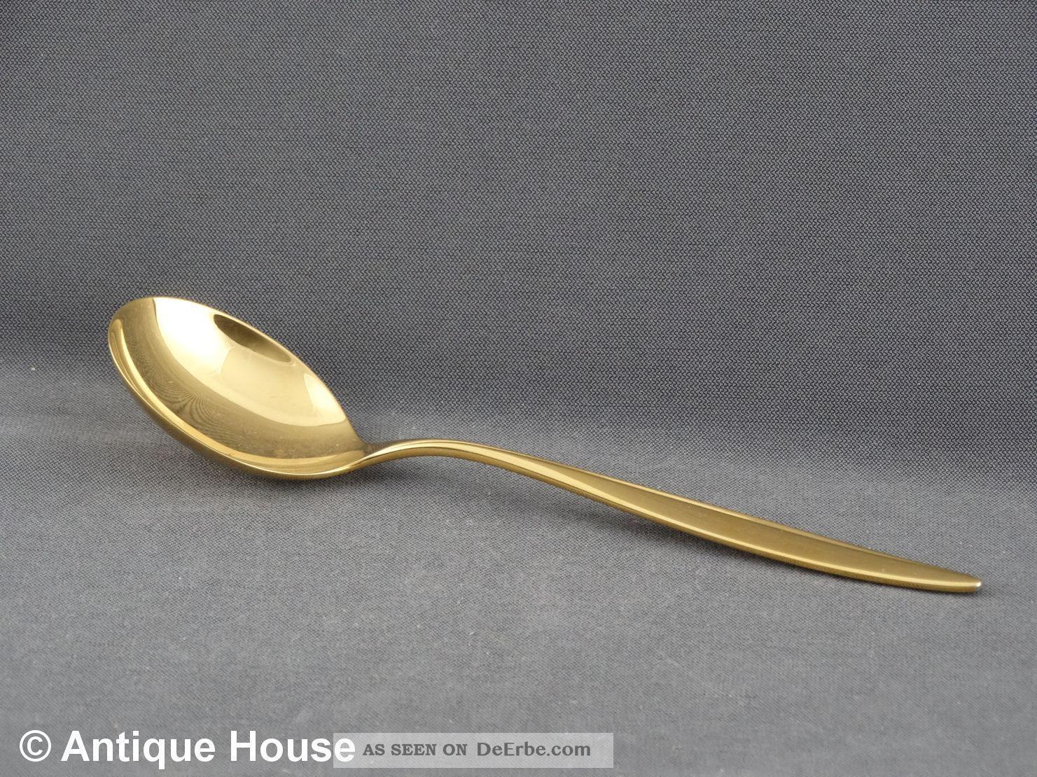 Wmf Besteck Kopenhagen Silber 800 Vergoldet Sahnelöffel Objekte nach 1945 Bild