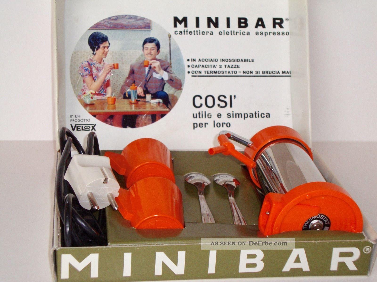 Espresso - Velox Minnibar - Elektro Kaffeemaschine - 70er Jahre Haushalt Bild