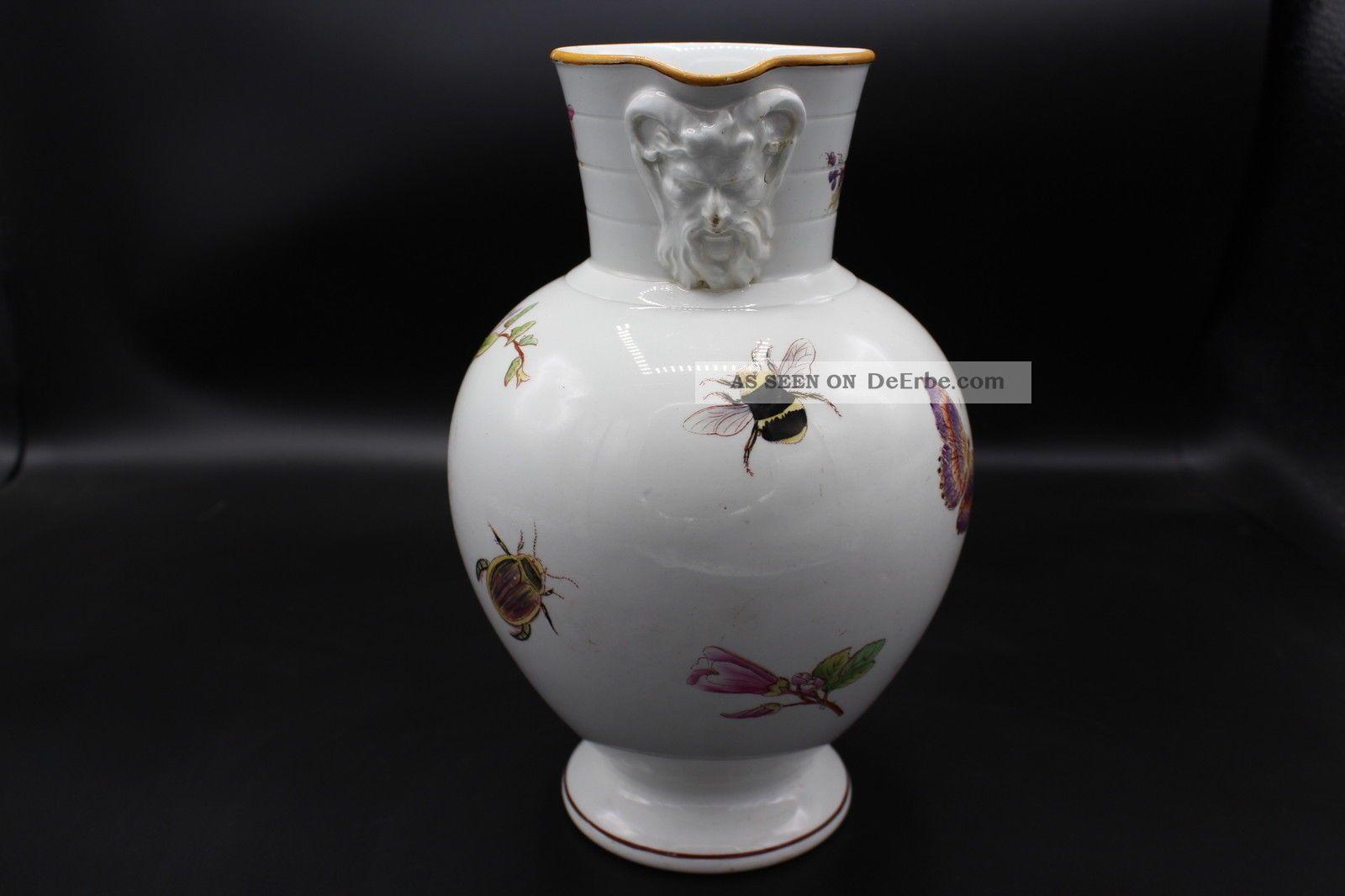 Wedgwood Keramik Historismus Kanne Vase Insekten Dekor 1880 Nach Marke & Herkunft Bild