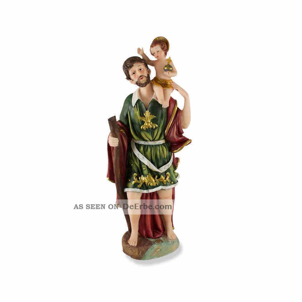 Heiliger Christophorus Mit Kind Statue Polyresin 30 Cm Skulpturen & Kruzifixe Bild