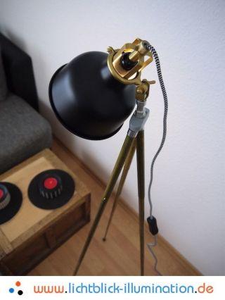 Bauhaus Tripod Steh Lampe Film Studio Vintage Loft Retro Art Deco Leuchte Panton Bild