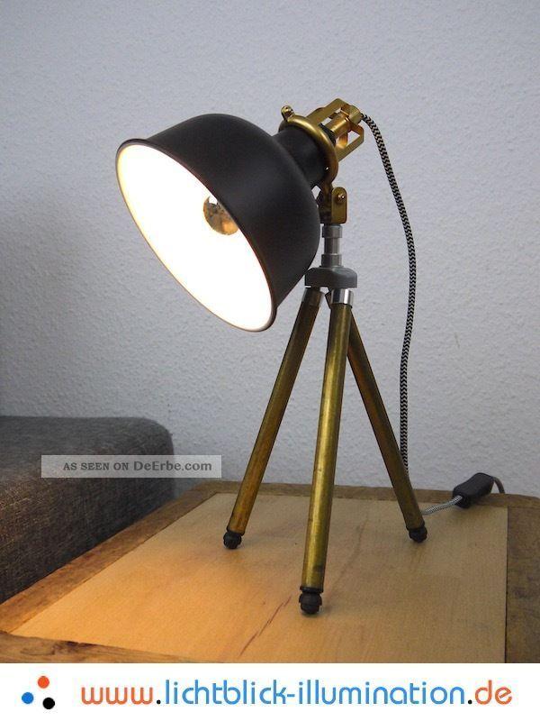 bauhaus tripod steh lampe film studio vintage loft retro art deco leuchte panton. Black Bedroom Furniture Sets. Home Design Ideas