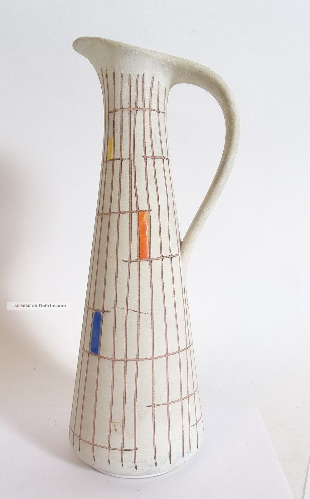 Mid Century 50s 50er Jahre Steuler Keramik Vase Sgraffito Form 4148 1950-1959 Bild
