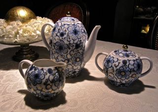 Driedelige Lomonosov Koffieservies - Kern ' Winde ' - Decoratie Bild