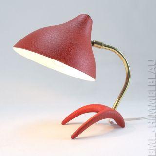 Louis Kalff KrÄhenfuss Tischlampe 50s Lampe Rot 50er Vintage Leuchte Desk Lamp Bild