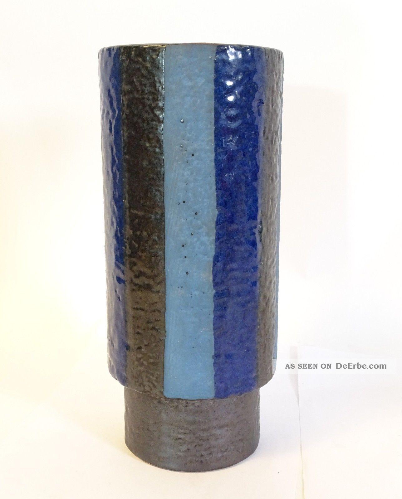 Studio Design 60er Jahre Keramik Vase In Ausgefallener Farbgebung Rarität 1960-1969 Bild