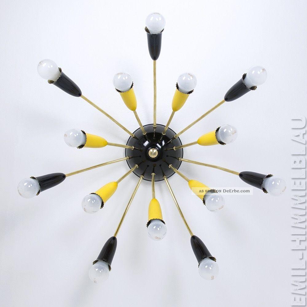 Sputnik 14 - Armig Deckenlampe 50er Spinne Mid Century Vintage Lampe Lamp 60er 1950-1959 Bild